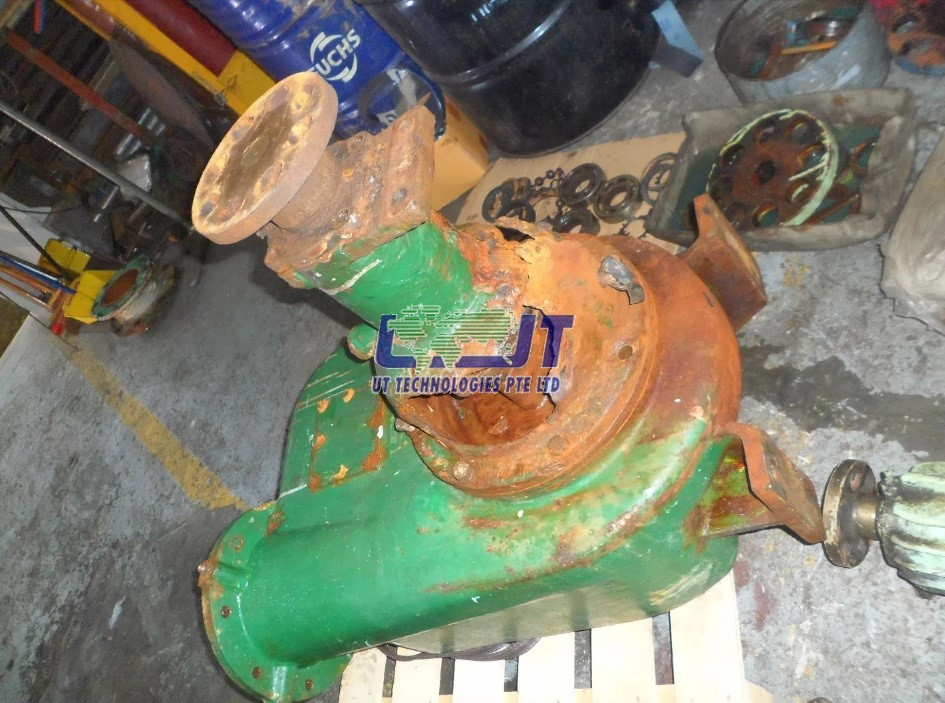 New pump housing (before)