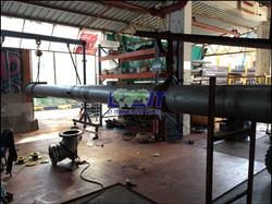 Oil terminal loading arm machining