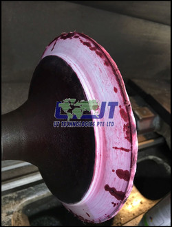 Reconditioning of exhaust valve spin