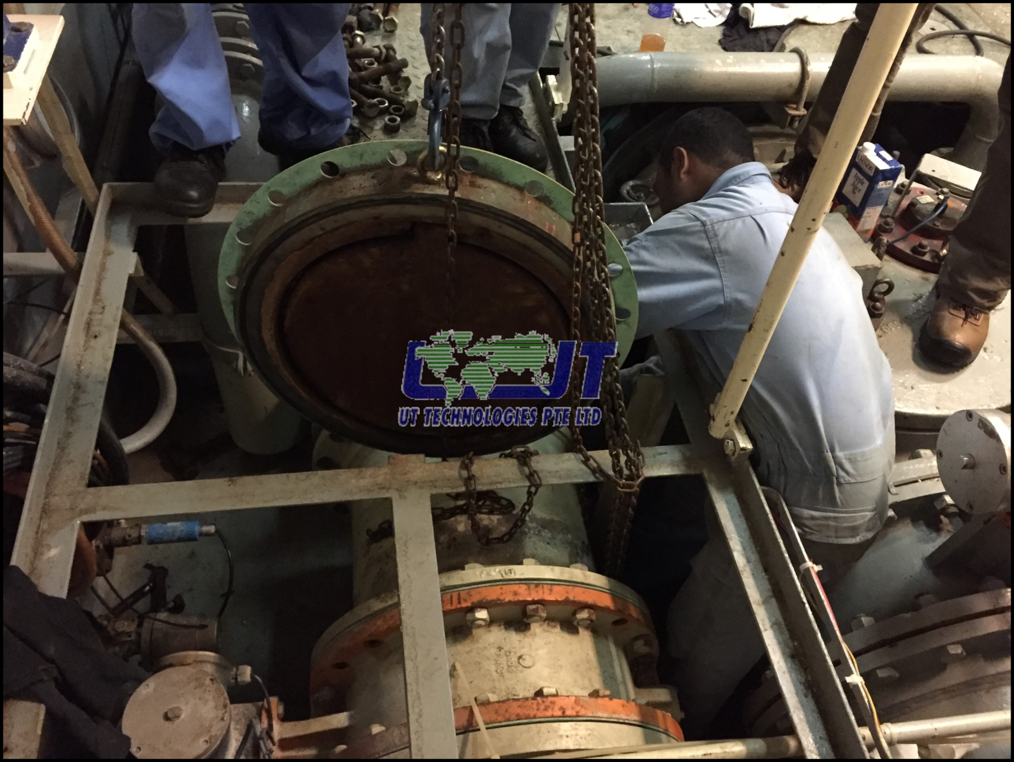 Ship side overboard valves replaceme