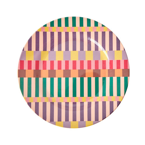 Melamiinilautanen Summer Stripes Print