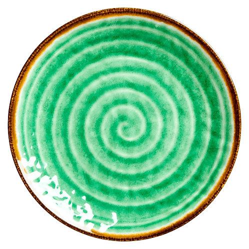 Melamiinilautanen vihreä swirl