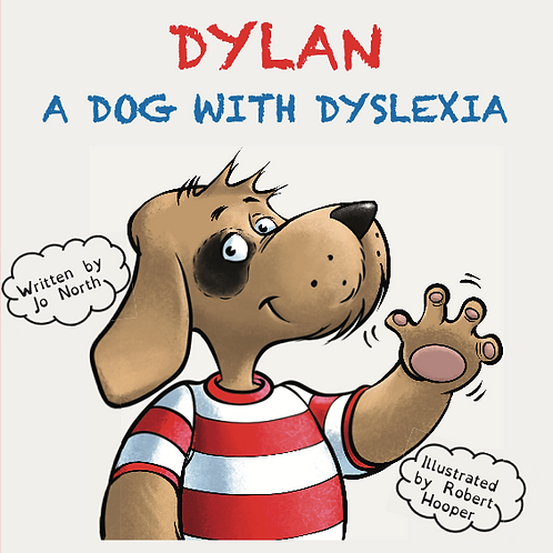 Dylan, a dog with dyslexia