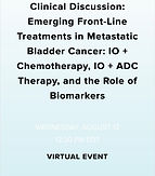 Clinical Discussion: Emerging Front-Line Treatments in Metastatic Bladder Cancer: IO + Chemotherapy, IO + ADC Therapy, and the Role of Biomarkers