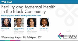 Fertility and Maternal Health in the Black Community