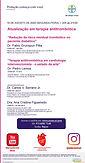 Atualização em terapia antitrombótica