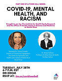 Part One of a Town Hall Series: COVID-19, Racism, and Mental Health in Black and Brown Communities