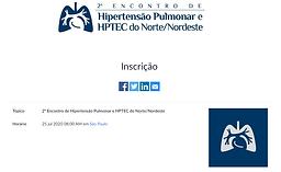 2º Encontro de Hipertensão Pulmonar e HPTEC do Norte/Nordeste