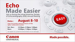 ASE 2020 Annual Meeting Virtual Booth - Echo Made Easier