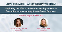 Exploring the Effects of Genomic Testing on Fear of Cancer Recurrence among Breast Cancer Survivors