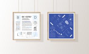 Blueprint Style Infographic