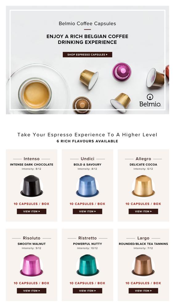 Section of Belmio Coffee - Desktop
