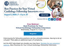Best Practices for Your Virtual Cardiology Fellowship Interviews