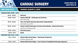 World Robotic Symposium 2020 - Cardiac Surgery