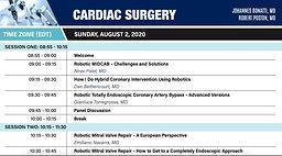 World Robotic Symposium 2020 - Cardiac Surgery