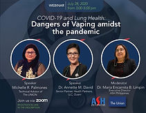COVID-19 and Lung Health: Dangers of Vaping amidst the pandemic