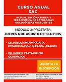 "Módulo 2: ""Próstata"". Actualización clínica y terapéutica de patologías oncológicas frecuentes."