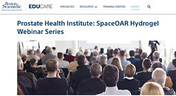 Prostate Health Institute: SpaceOAR Hydrogel Webinar Series