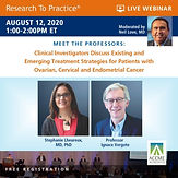 Meet The Professors: Clinical Investigators Discuss Existing and Emerging Treatment Strategies for Patients with Ovarian, Cervical and Endometrial Cancer