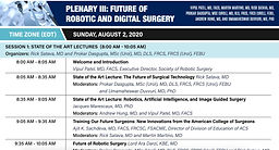 World Robotic Symposium 2020 - PLENARY III: FUTURE OF ROBOTIC AND DIGITAL SURGERY