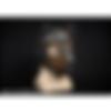 mr s leather neoprene puppy hood - brown