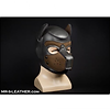 mr s leather neoprene puppy hood - brown
