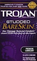 trojan studded bareskin lubricated condo