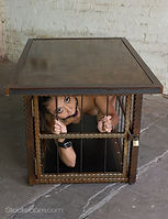 hammered steel coffee table cage.jpg
