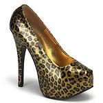 sexy metallic 5 3-4 inch cheetah print p