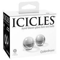 icicles hand blown small glass ben wa ba