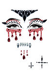 sexy vampire adhesive face jewels sticke