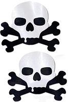 black and white skull and crossbones nip