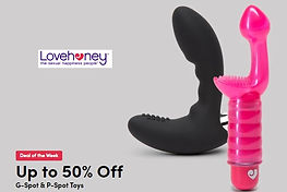 lovehoney up to 50% off gspot and pspot