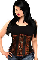 black and brown steel boned underbust co