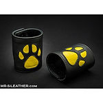 mr s leather paw gauntlet - yellow - med