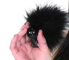 tickle your fancy fluffy black feather t