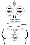 skeleton adhesive face and chest jewel s