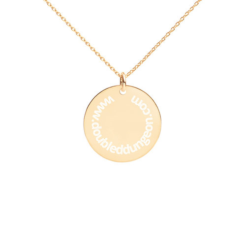Engraved Silver Disc Necklace