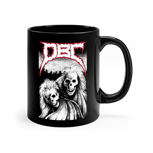 Laughing Skeletons Black mug 11oz