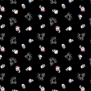 Punk Skulls Pattern