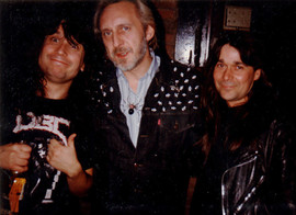 Eddie & Jeff with John Entwisle from The Who, Rainbow Bar & Grill