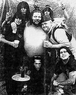 Big Michel with Eddie, Suki, Gerry, Rob, unknown & Denis at Foufs