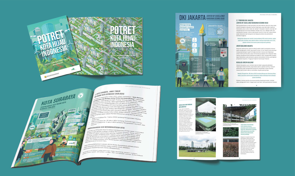 Annual report book Potret Kota Hijau Ind