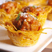 No Fork Twirling Required: Spaghetti & Meatball Bites