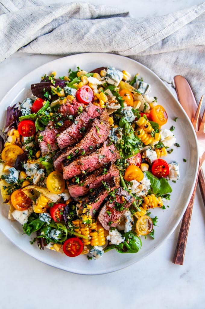 Summer Salad with Grilled Corn