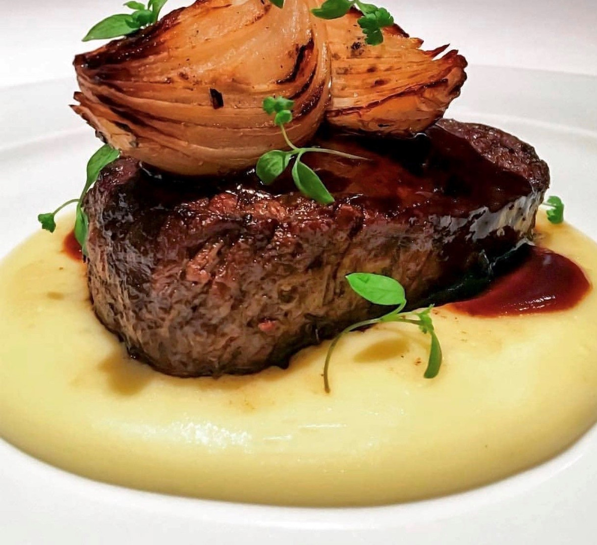 Filet with Potato Puree