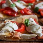 No Yeast Pizza Crust & Homemade Pizza Sauce (Red & White)
