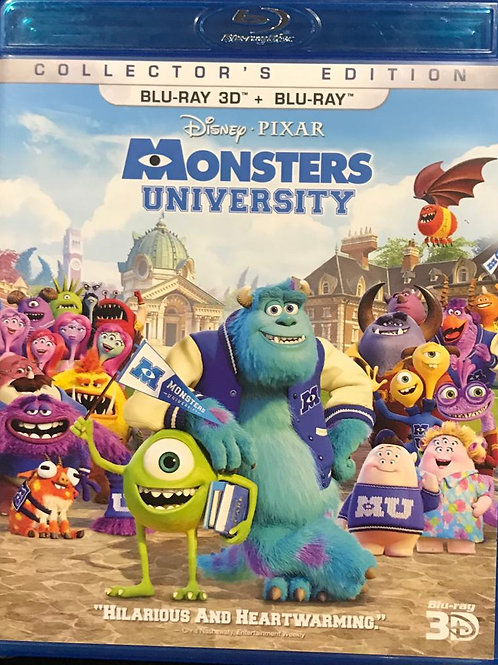 Monsters University 2D + 3D Blu-Ray 怪獸大學