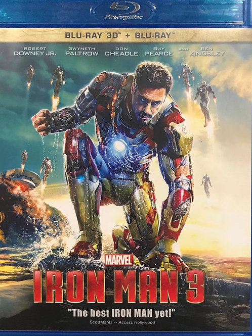 Iron Man 3 鋼鐵人3 - 2D + 3D Blu-Ray