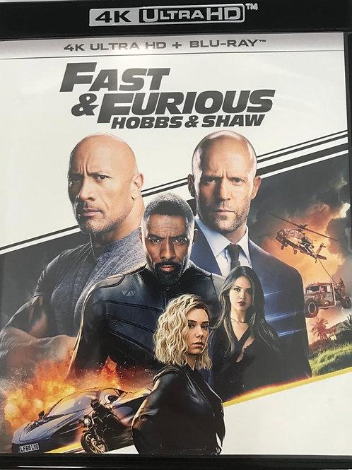 Fast & Furious: Hobbs & Shaw 狂野時速: 雙雄聯盟 4K UHD + Blu-Ray